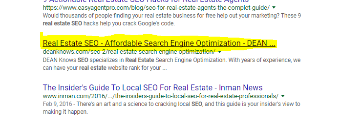meta title for real estate seo