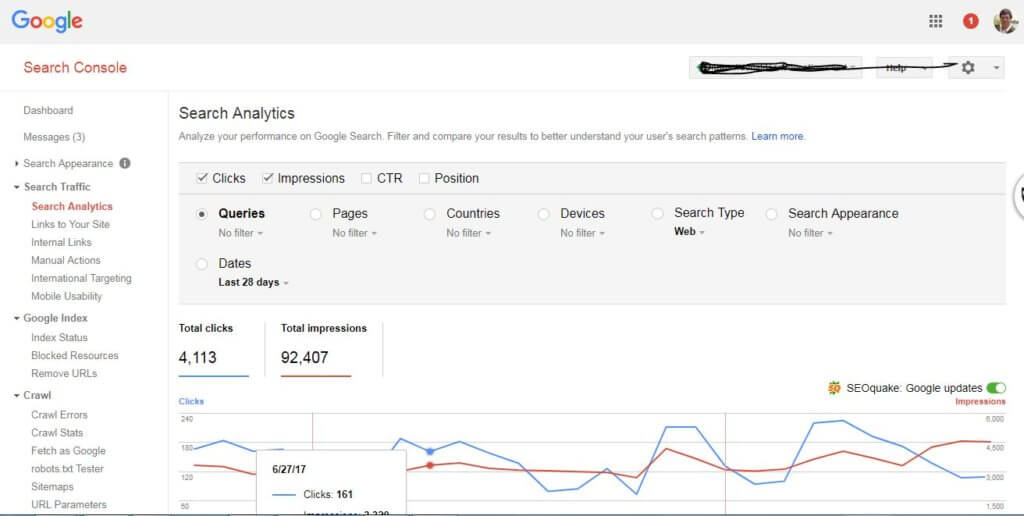 how to use google search console 2017